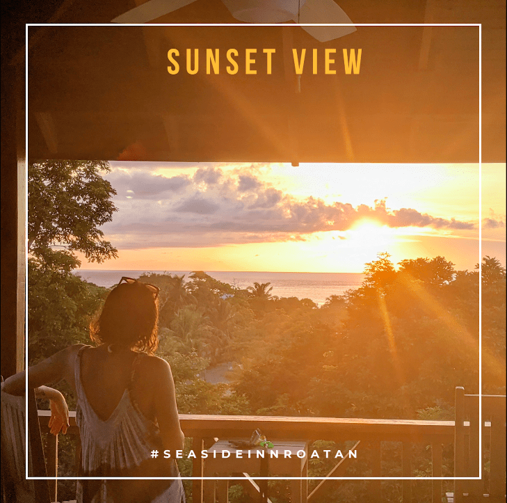 Sunset view seasideinnroatan
